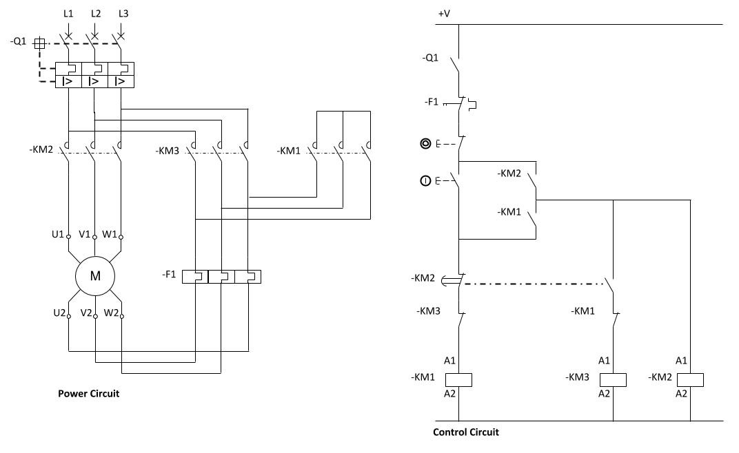 Star Delta Starter Control Circuit Diagram Without Timer - Wiring ...
